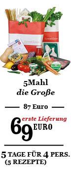 5Mahl zum Willkommenspreis 69 Euro (Regulär 87 Euro)