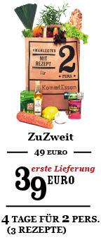 ZuZweit zum Willkommenspreis 39 Euro (Regulär 49 Euro)
